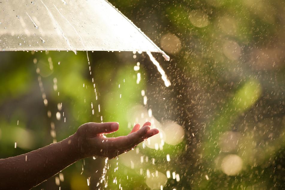 Regen und Sonne gleichzeitig - dieser Sommer zeigt sich in Sachsen bisher wechselhaft. (Symbolbild)