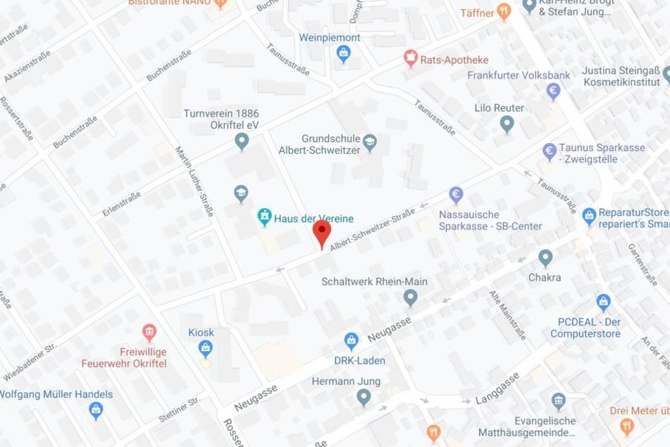 Der Vorfall ereignete sich im Bereich der Okrifteler Albert-Schweitzer-Straße.