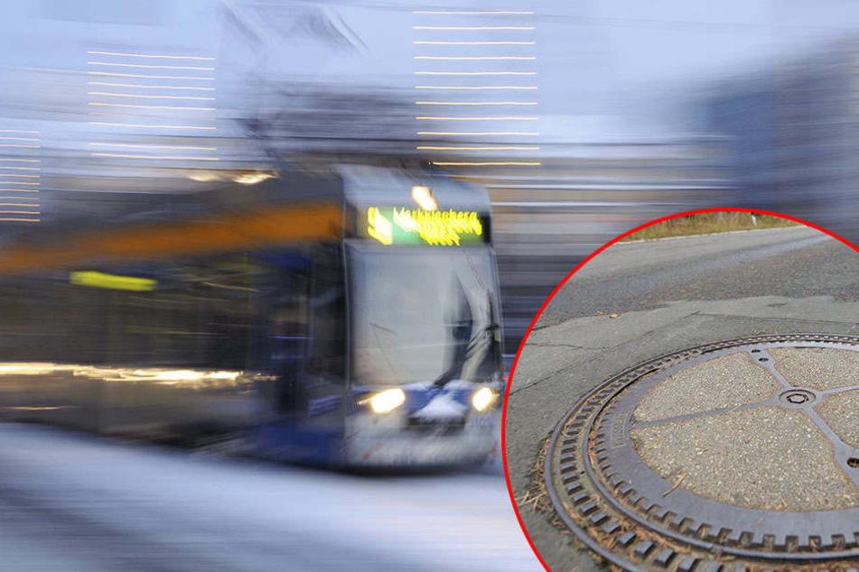 Zum Glück konnte der Fahrer der Straßenbahn schnell genug abbremsen. (Symbolbild)