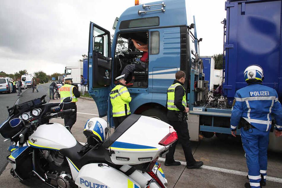 Die Polizei-Gewerkschaft fordert mehr Kontrollen von Lkw.