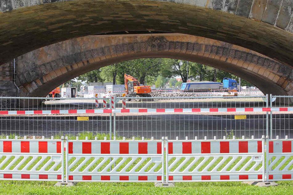 Das war's! Der Bereich unter der Marienbrücke ist ab sofort gesperrt.
