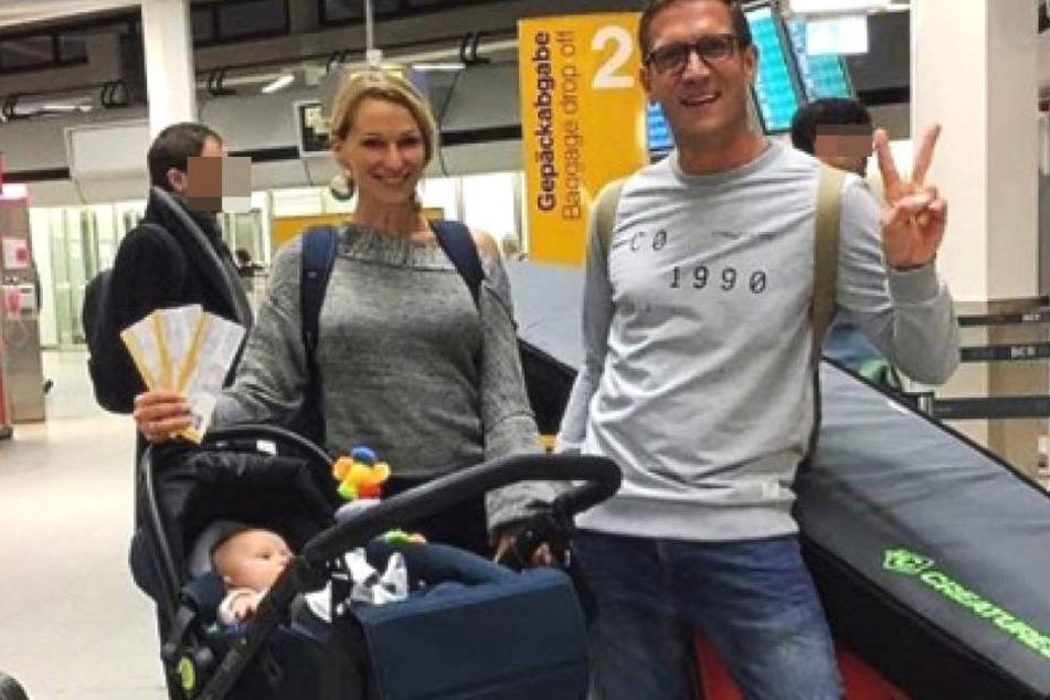 Peer, Janni und Emil-Ocean bei ihrer Abreise aus Berlin am 18. Dezember 2017.