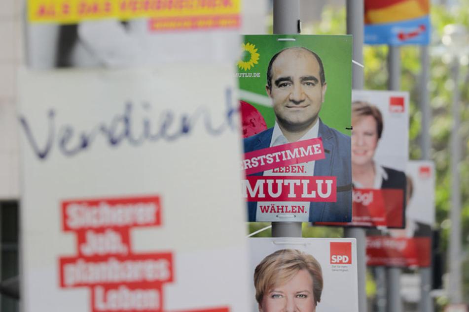 Noch immer säumen Wahlplakate die Straßen Berlins.