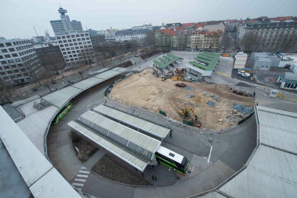 Baustelle ZOB: Der Omnibus-Bahnhof soll 2022 eröffnen.
