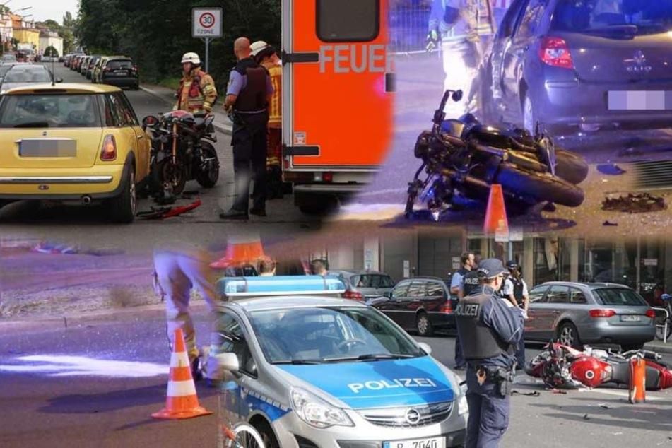 Viele Verletzte bei Motorrad-Crashs in wenigen Stunden