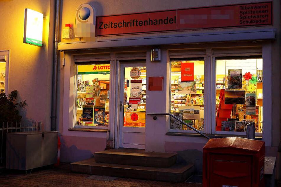 Der Zeitungskiosk in Cossebaude wurde Opfer eines Überfalls.