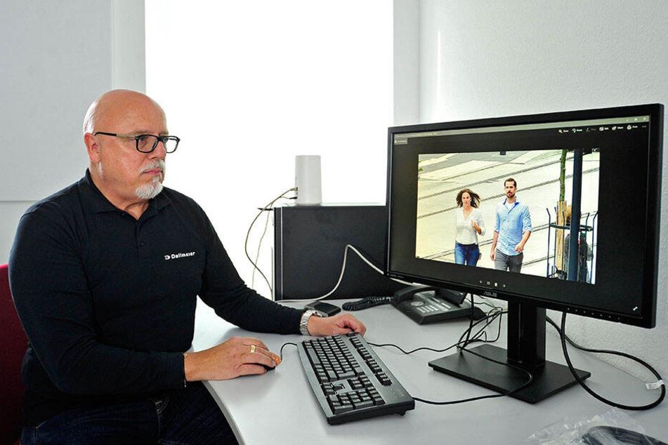 Stolz präsentierte Frank Salder (59) vom Hersteller Dallmeier im Herbst die gestochen scharfen Bilder.