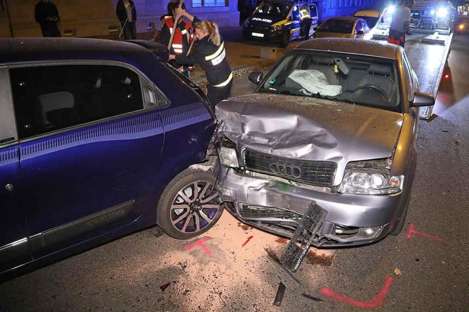 Der Audi konnte nicht mehr rechtzeitig ausweichen.
