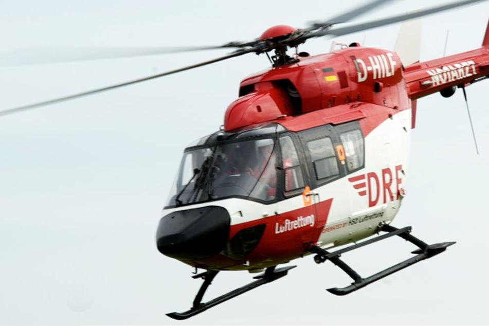 Auch der Rettungshubschrauber konnte der 24-Jährigen nicht mehr helfen (Symbolbild).