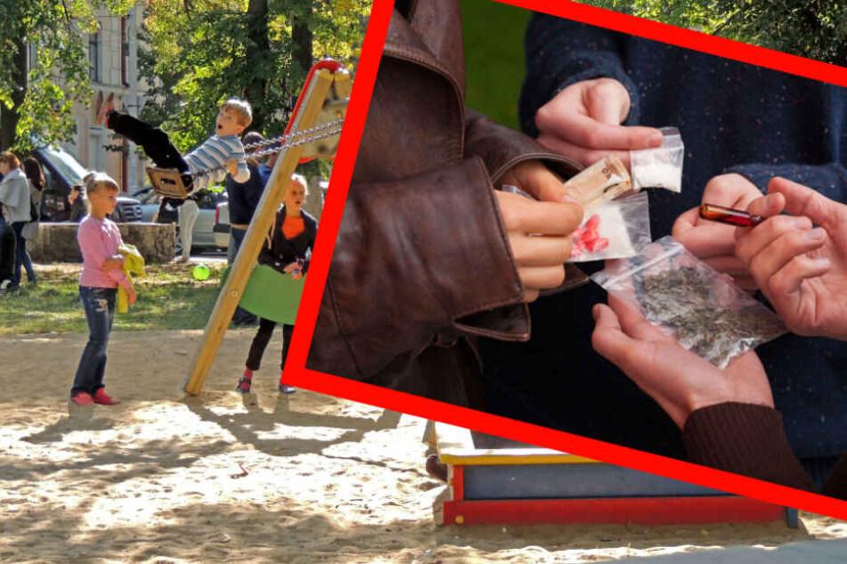 Ohne Skrupel: Zwei Drogendealer verkauften ihre Drogen direkt neben einem Spielplatz (Symbolbild).