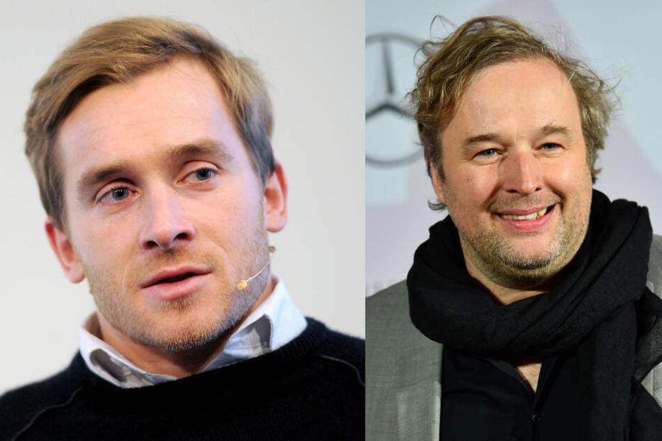 "Der schwer verunglückte ""Wetten, dass..?""-Teilnehmer Samuel Koch (31, l.) und Schauspieler Stephan Grossmann (47)."