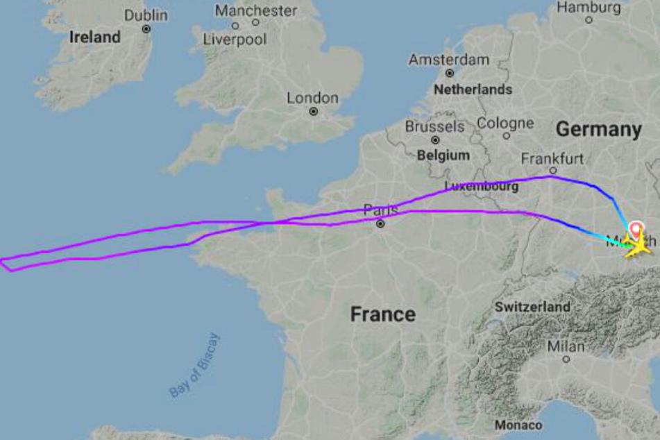 Die Lufthansa-Maschine musste umkehren und flog nach München zurück.