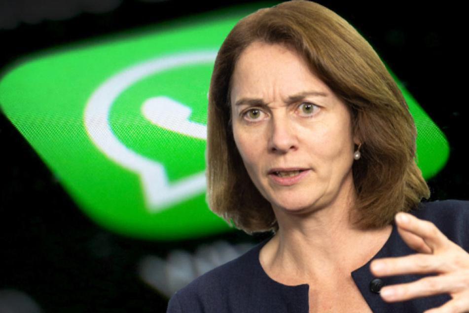 Bundesjustizministerin Katarina Barley (49, SPD) fordert eine Veränderung bei WhatsApp.