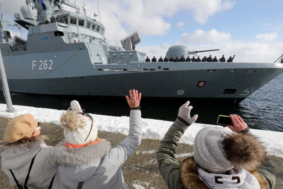Ein Schiff der deutschen Marine. (Symbolbild)