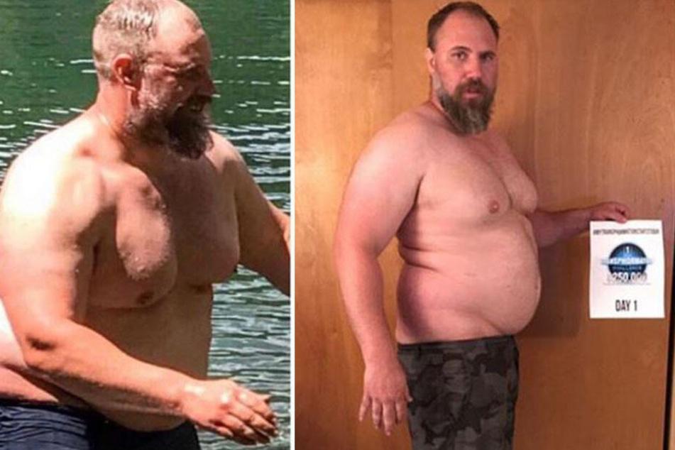 Damals wog Peterson noch 130 Kilo.