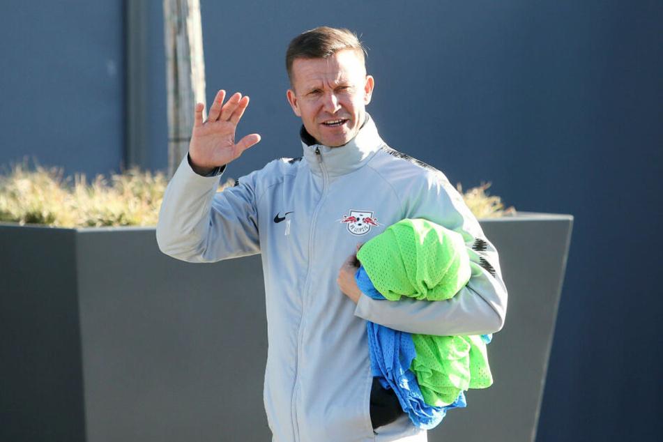 Macht den AbMARSCH nach Salzburg: RB Leipzigs Co-Trainer Jesse Marsch (45).