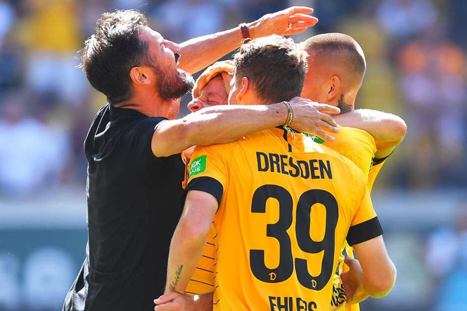 Cristian Fiel (l.) will am Samstag wieder zusammen mit seinen Jungs einen Dreier feiern.