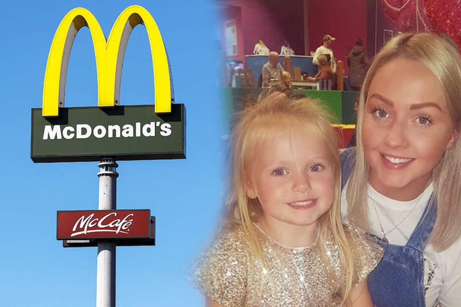 Tödliche Gefahr: Mutter ist schockiert, was bei McDonald's neben ihrer Tochter (4) liegt