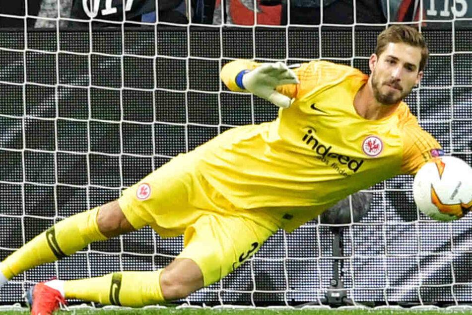 Brozovic von Inter Mailand zielte auf die untere rechte Ecke – doch Trapp (Foto) reagierte blitzschnell.
