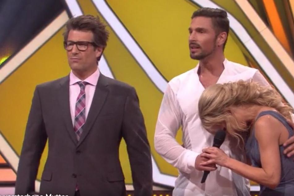 Kurz nach dem Auftritt von Benjamin Piwko: Seine Tanzpartnerin Isabel Edvardson rang mit den Tränen.
