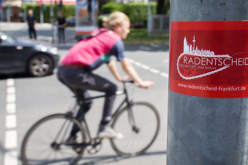 """Die """"Radentscheid""""-Aktivisten sammelten mehr als 40.000 Unterschriften in Frankfurt."""