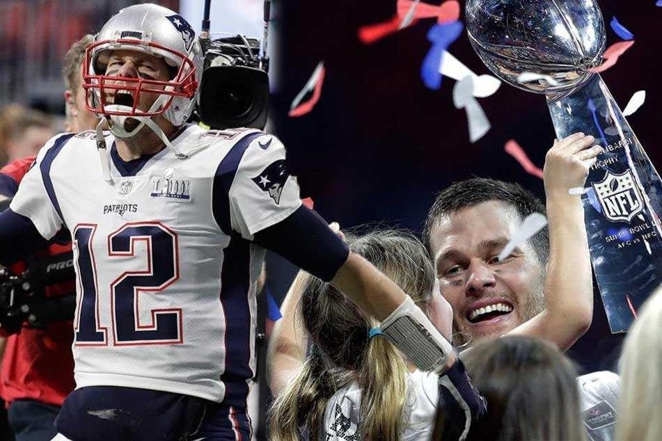 Sieg der Patriots: Tom Brady gewinnt zum 6. mal den Super Bowl