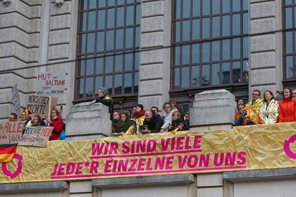 Auch das Stadttheater hatte etwas gegen den Nazis in Bielefeld.