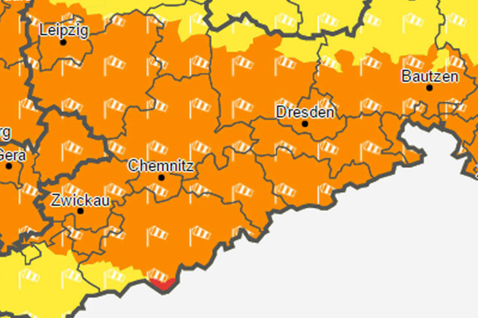 Die Sturmwarnung gilt für ganz Sachsen.