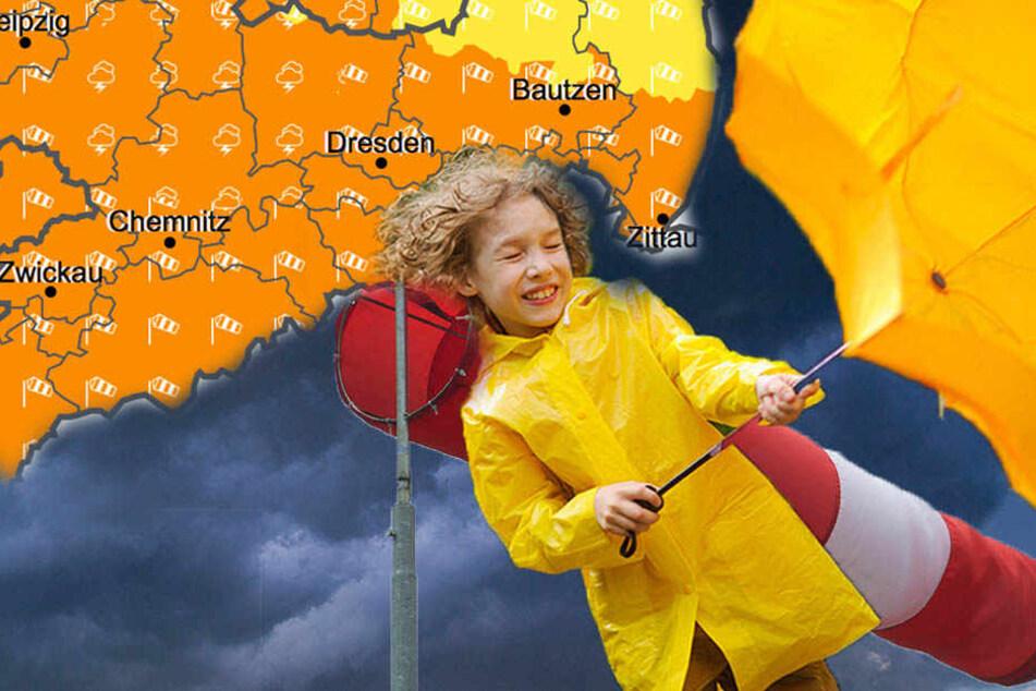 Sturmböen, Gewitter und Schnee: So ungemütlich wird's jetzt in Sachsen