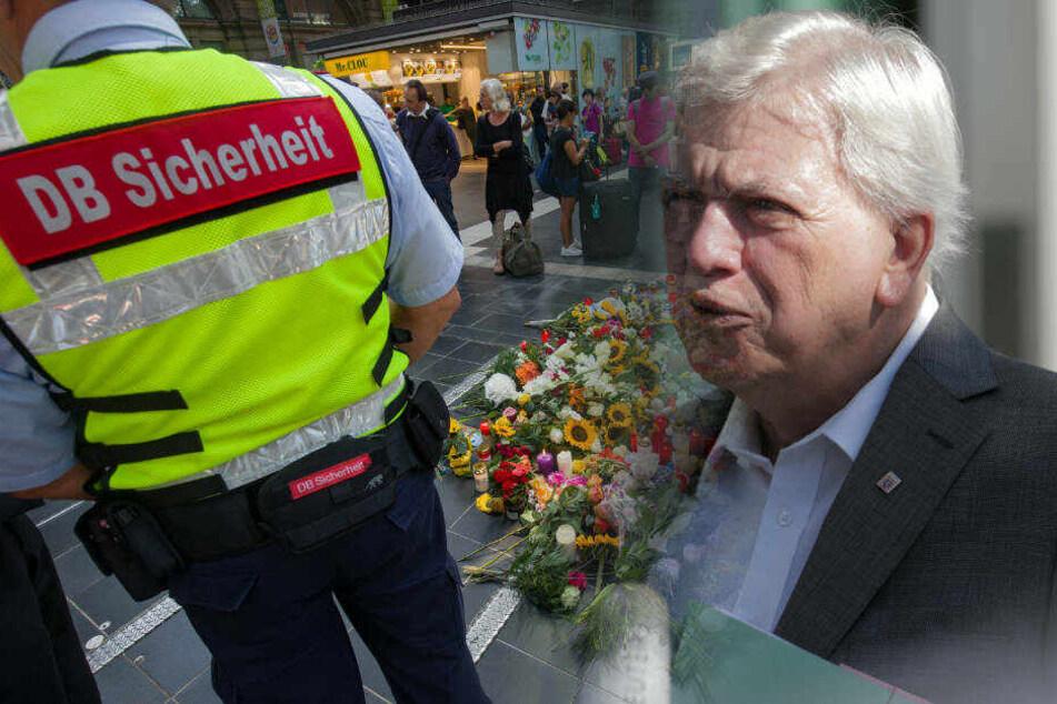 """Volker Bouffier: """"Absolute Sicherheit an Bahnhöfen ist eine Illusion"""""""