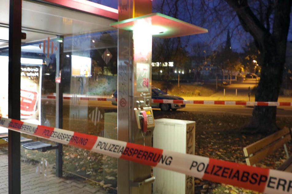 Die Drohungen wurden jedesmal von Telefonzellen (im Foto Augustusburger Straße/ Höhe Steinhaus, dritte Drohung) abgesetzt.