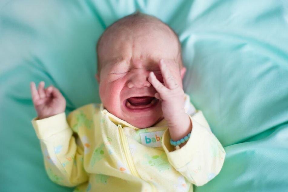 Ein weinendes Kleinkind.