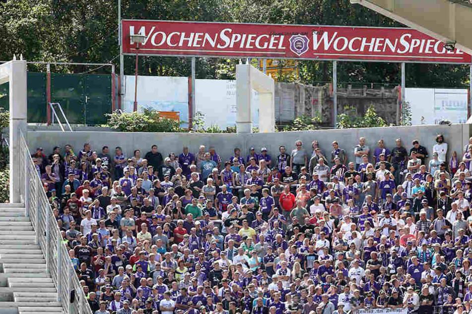 Im Heimspiel gegen Nürnberg wurde das letzte Eckteil der Fan-Tribüne freigegeben - allerdings ohne Dach.