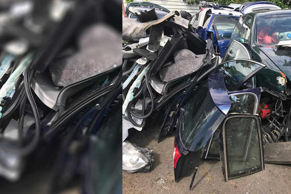Ein VW Passat in zerlegtem Zustand war wohl ebenfalls nicht gestohlen.