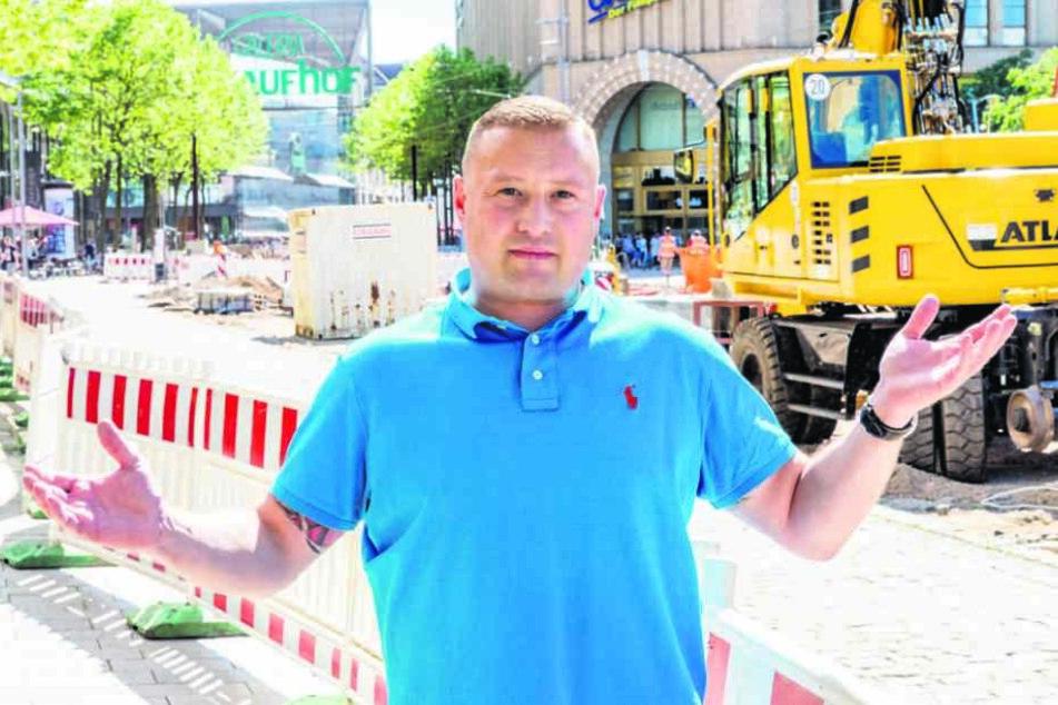 Händler Daniel Bartzschke (39) wünscht sich mehr Kommunikation von Stadt und  VMS.