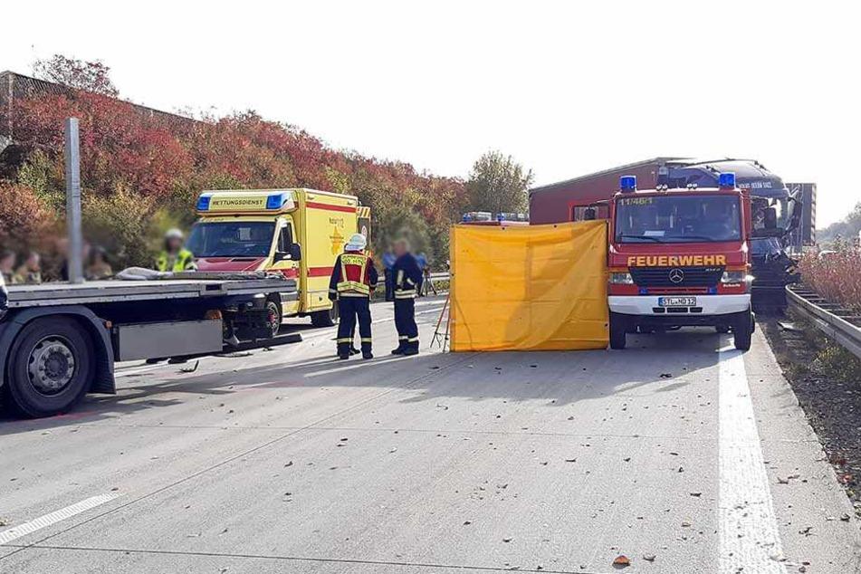 Die A72 Richtung Chemnitz war wegen der Bergungsarbeiten dreieinhalb Stunden voll gesperrt.