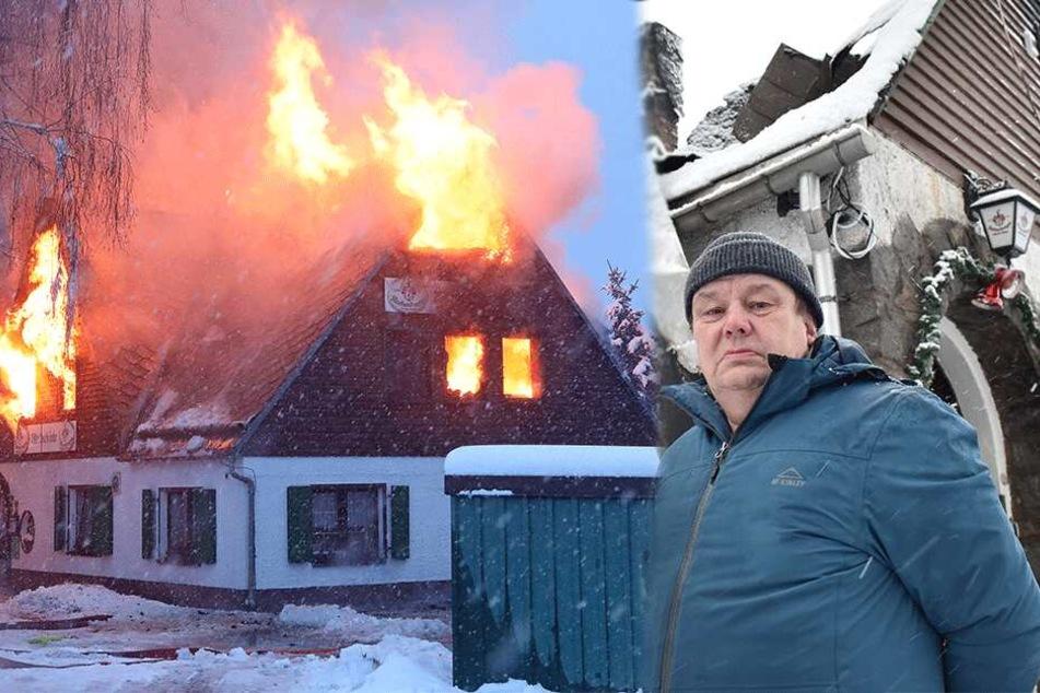 Waldschänke brannte komplett ab: Jetzt steht die Familie des Wirts vor dem Nichts