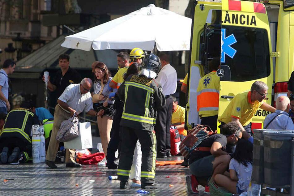 Am Donnerstag raste ein Terrorist mit einem Kleintransporter in eine Menschenmenge in Barcelona.