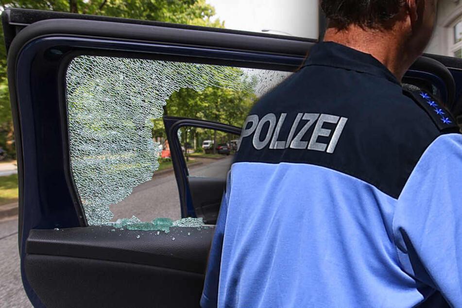 Die Beamten hatten eine andere Wahl als die Scheibe des Fahrzeugs einzuschlagen und die Tür von innen zu öffnen. (Bildmontage)