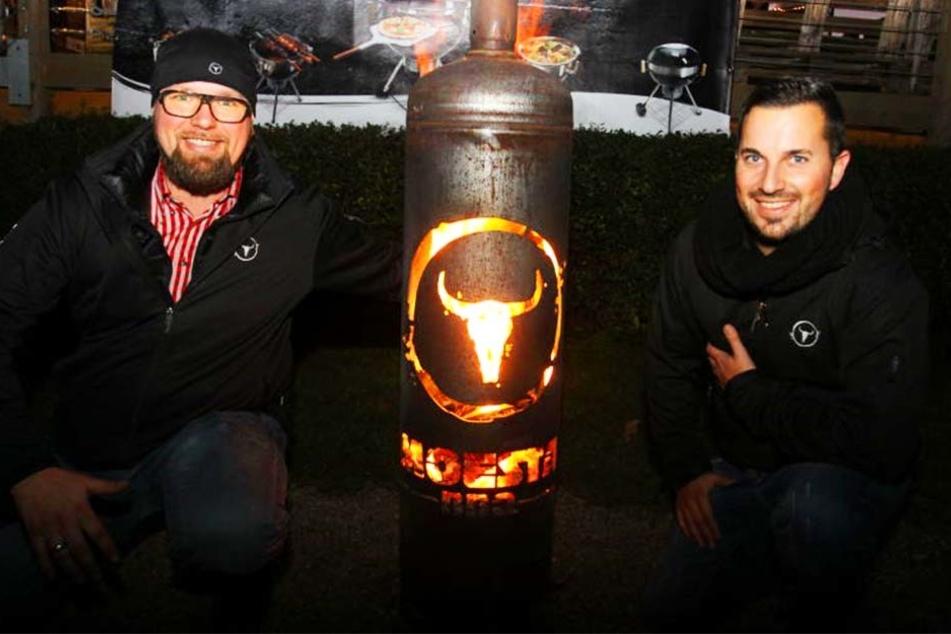 Alexander Möhle und Marcel Stabenow riefen den BBQ-Wettstreit ins Leben.