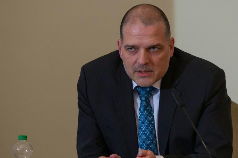 Detlef Lenk, Kriminaldirektor der Polizeidirektion Dresden.