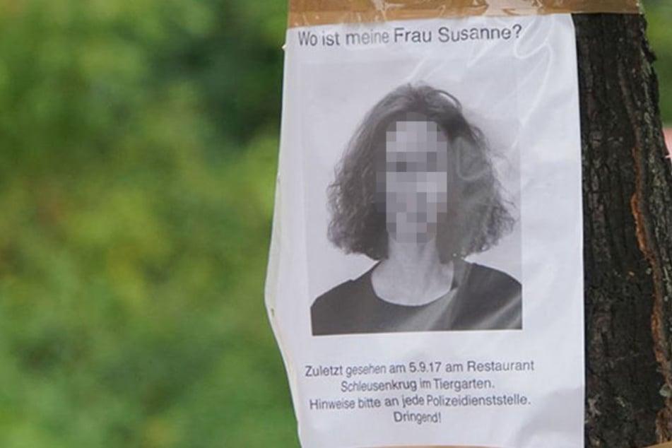 Der Ehemann der ermordeten Frau suchte mit Steckbriefen nach der Vermissten.