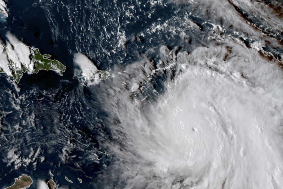 """Hurrikan """"Maria"""" rast auf viele Gebiete zu, die bereits von """"Irma"""" schwer geschädigt wurden."""