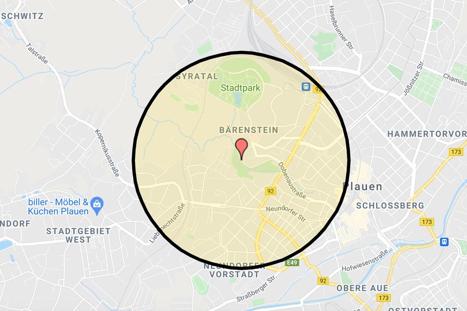 Sollte bei der Untersuchung am Freitag wirklich eine Bombe gefunden werden, droht in dem markierten Gebiet eine Evakuierung.