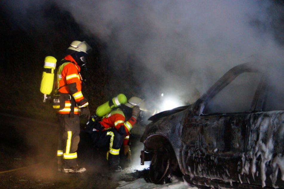 Die Feuerwehr löschte den Brand in kürzester Zeit.