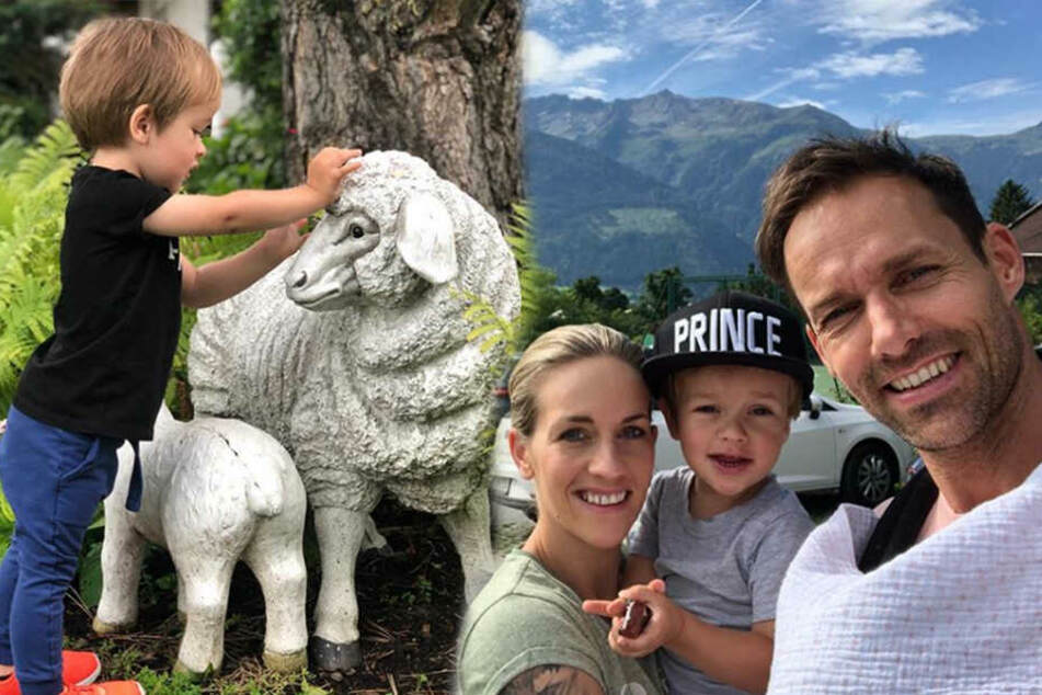 Erster Urlaub zu viert: Sven Hannawalds Söhnchen Glen geht auf Entdeckungstour