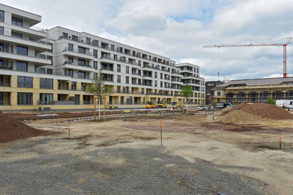 """Neu gebaute Wohnanlage """"Palais am Herzogin Garten"""" in Dresden: Luxus gegenüber dem Zwinger."""