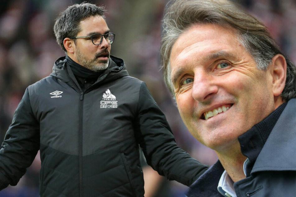 David Wagner und Bruno Labbadia sollen bei Hertha BSC auf dem Zettel stehen. (Bildmontage)