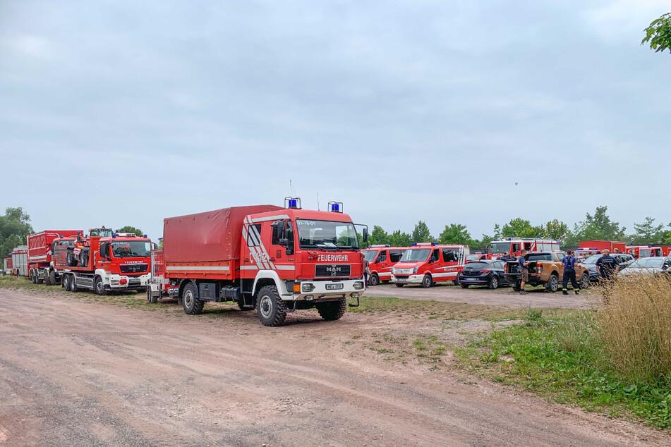 22 Einsatzfahrzeuge waren beladen worden - alles umsonst.