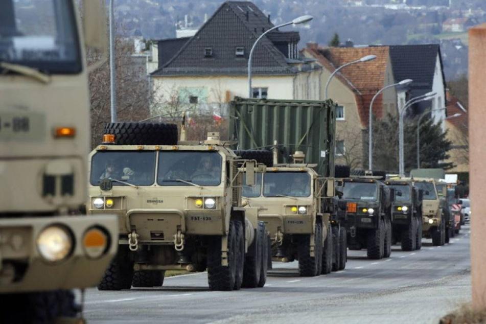 Was macht die US-Army in Sachsen?